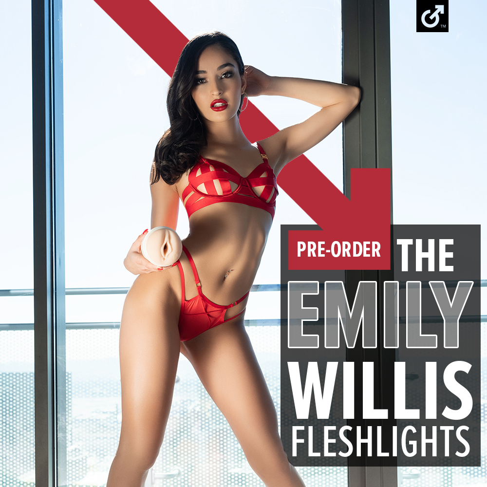 That @emilywillisxoxo is SO HOT right now! Pre-order our newest Fleshlight Girl's toys now, only at