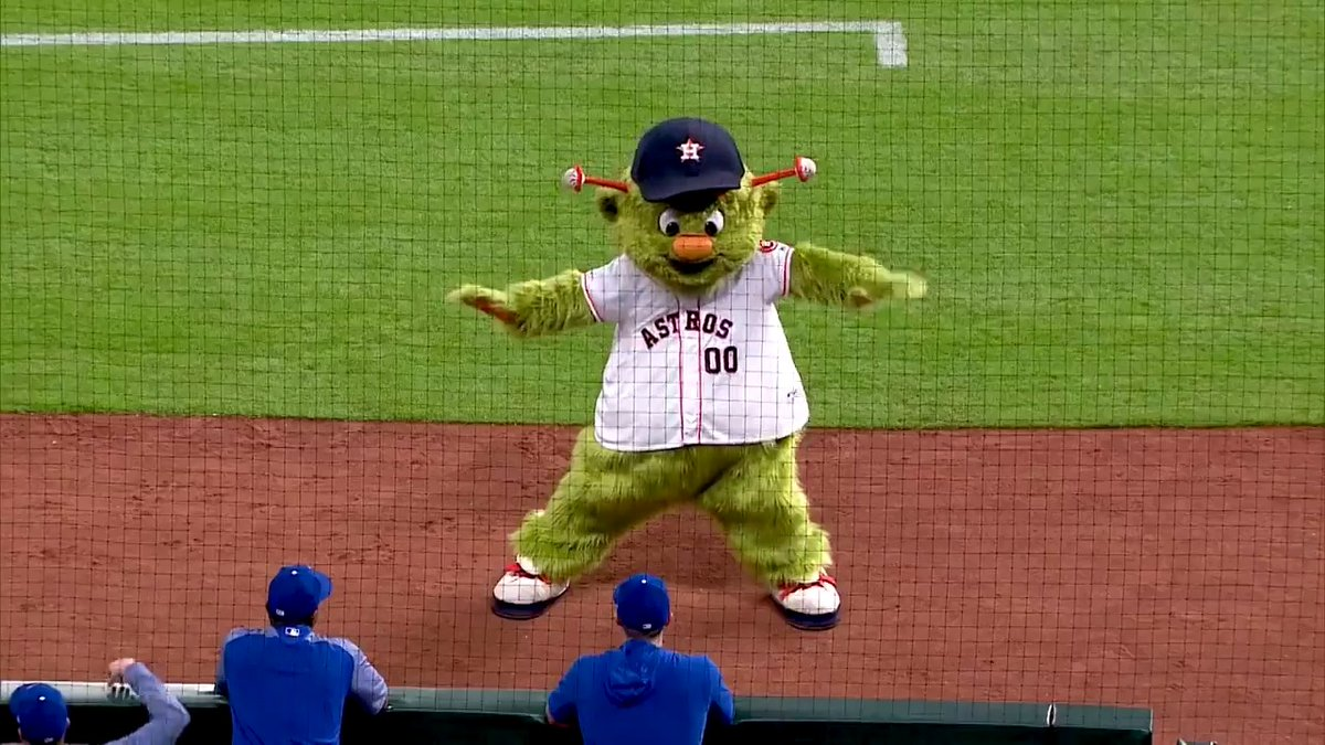 The one and only, our favorite, @OrbitAstros!   Watch all of Orbit's Shenanigans here:   #OpeningDayAtHome #ForTheH