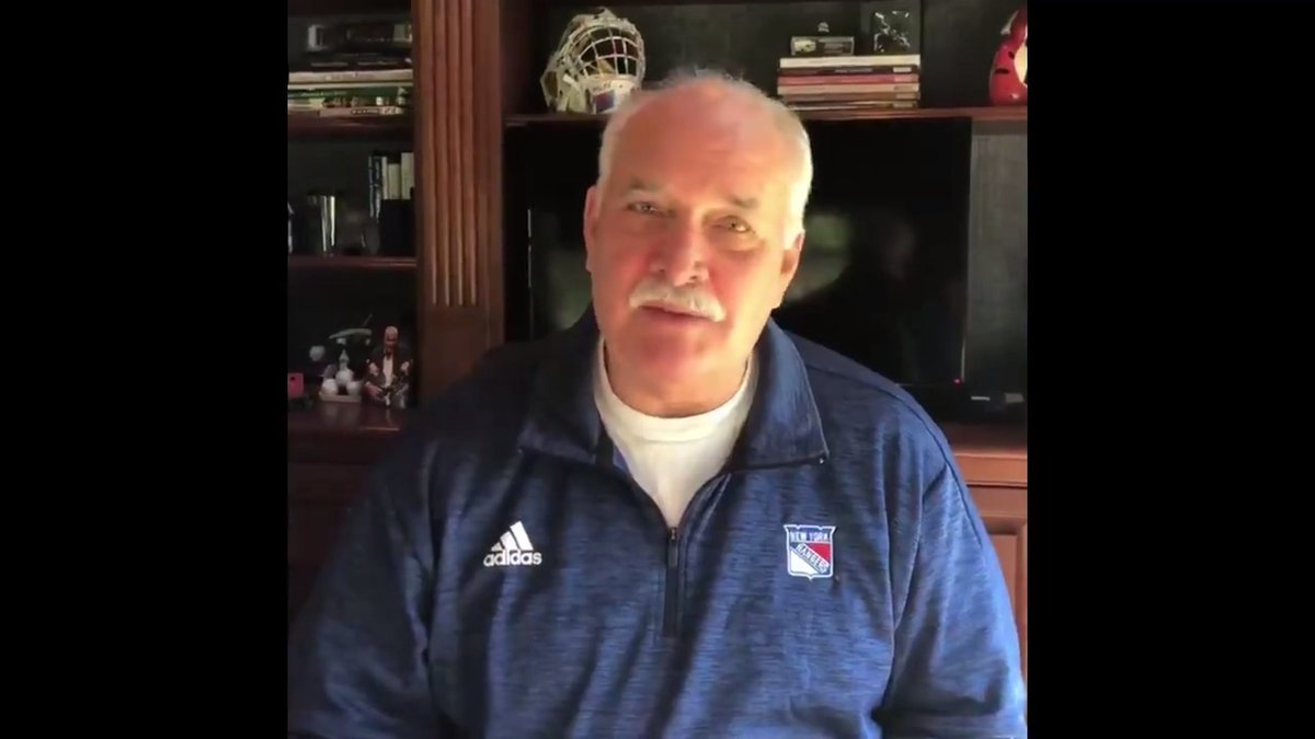 """""""Please do your part. And please stay safe.""""  A message from John Davidson and our #NYR family to yours:"""