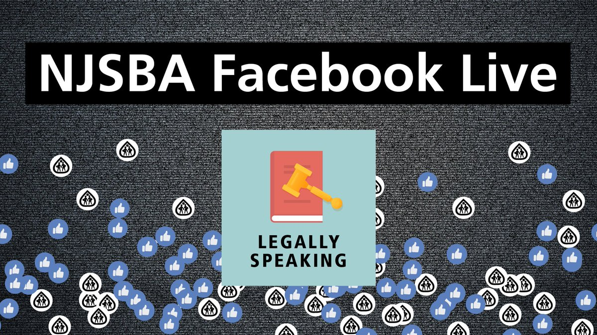 """LIVE IN 30 MINUTES! """"Legally Speaking"""" — NJSBA Counsel John Burns will share responses to the questions being received through the Association's Attorney of the Day service during the current crisis.  View our live broadcast here: https://t.co/ZBVuFfXMCj https://t.co/ASbv8YFtqQ"""