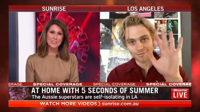 Aussie supergroup @5SOS have just released their highly-anticipated new album, #CALM 👏🏻 To celebrate, Nat caught up with @Luke5SOS from self-isolation in LA! #5SOS