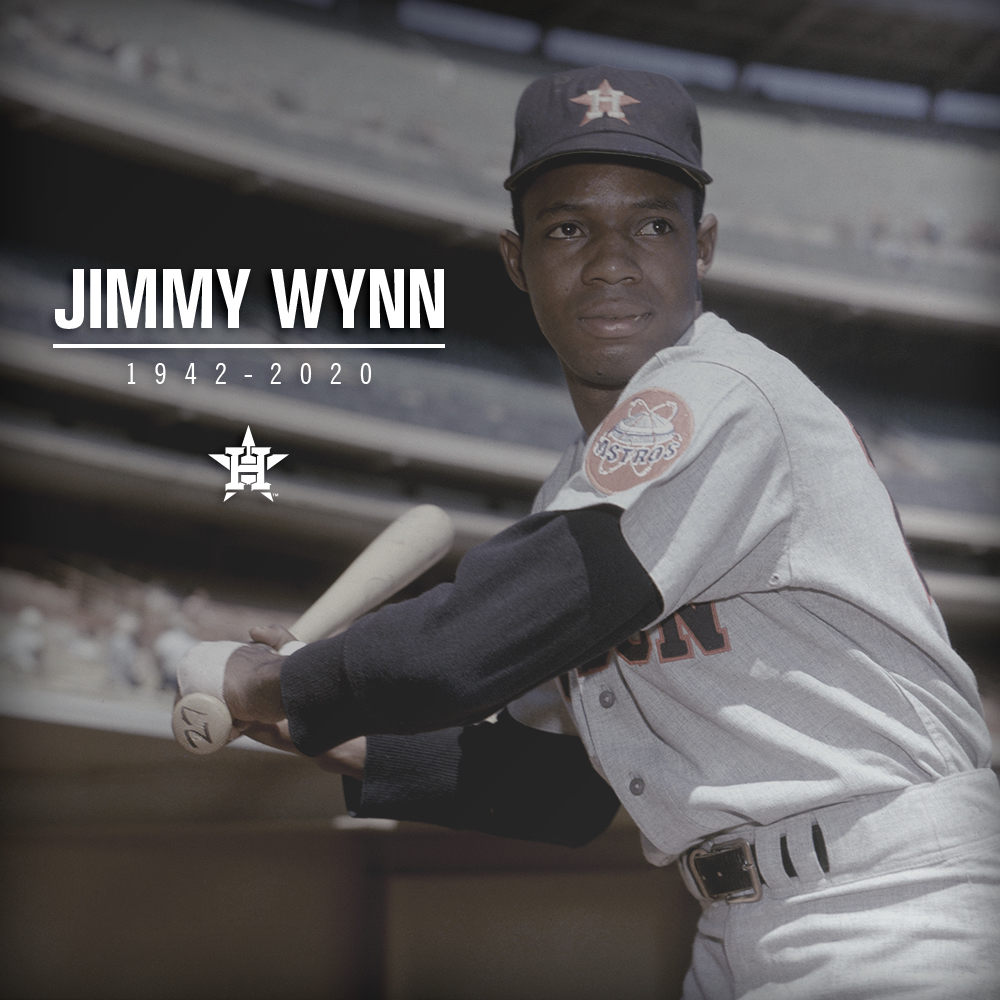 "We are deeply saddened to learn of the passing of Astros  legend, Jimmy ""The Toy Cannon"" Wynn. Our thoughts and prayers are with his family and loved ones."