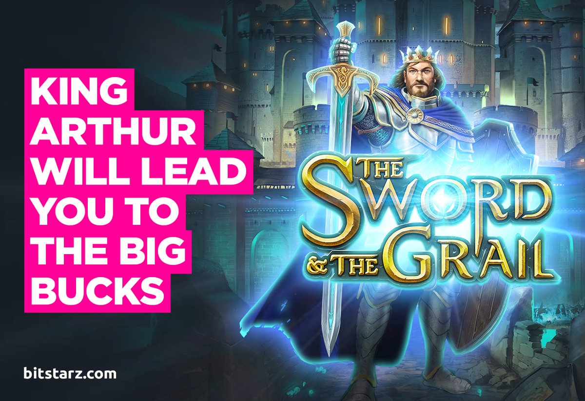 Fight Your Way Towards Epic Wins in the Sword and the Grail Slot by @ThePlayngo.  #BitStarz #TheSwordAndTheGrail #GameGuide #OnlineSlots #SlotGames #OnlineCasino #BitcoinCasino #CasinoGames