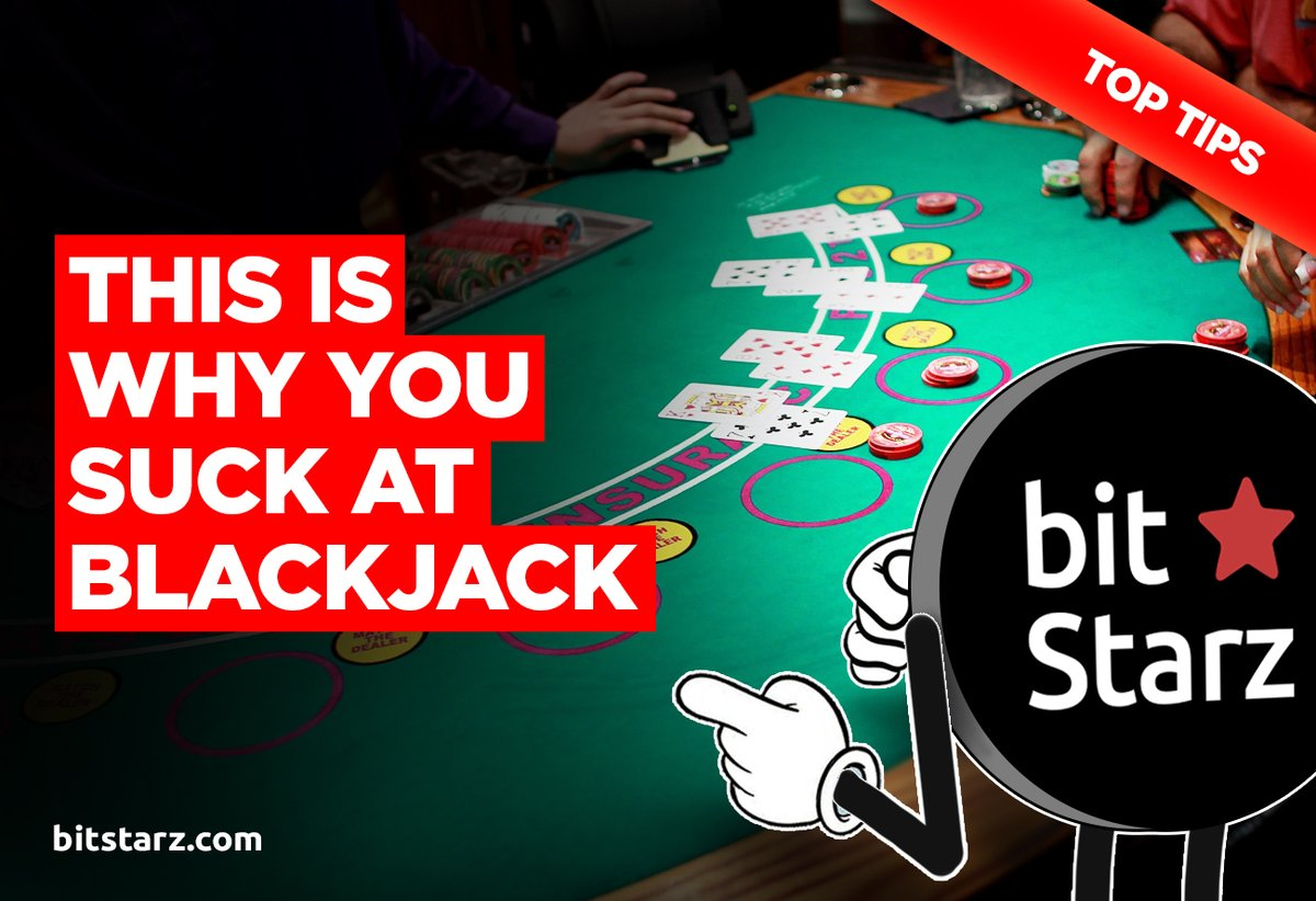 Learn why you suck at #blackjack and how to cut the house edge with this epic blackjack #guide from #BitStarz!  #BlackjackGuide #BlackjackOnline #BlackjackTips #BitcoinCasino #OnlineCasino