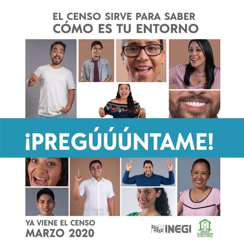 ¡El Censo de Población está en marcha! cuando veas un entrevistador ábrele las puertas y  !Participa!   #censo2020 #CPYV2020