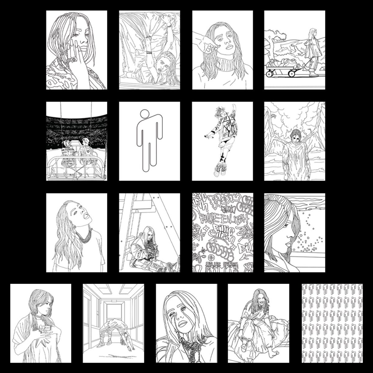 A digital version of the Billie Eilish Coloring Book is available now in Billie's official store. You can choose your own price with all proceeds going to @UNICEF.