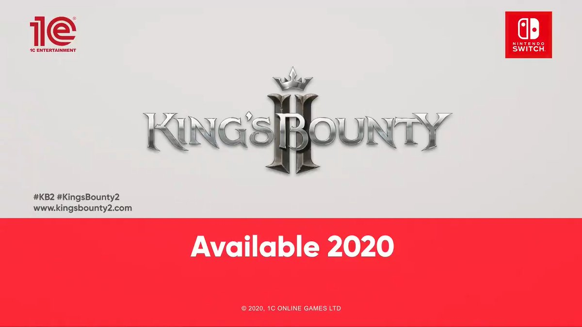 Field your armies in locations around the world and put your tactics to the test in #KingsBounty2. This turn-based Tactical RPG launches on #NintendoSwitch in 2020.