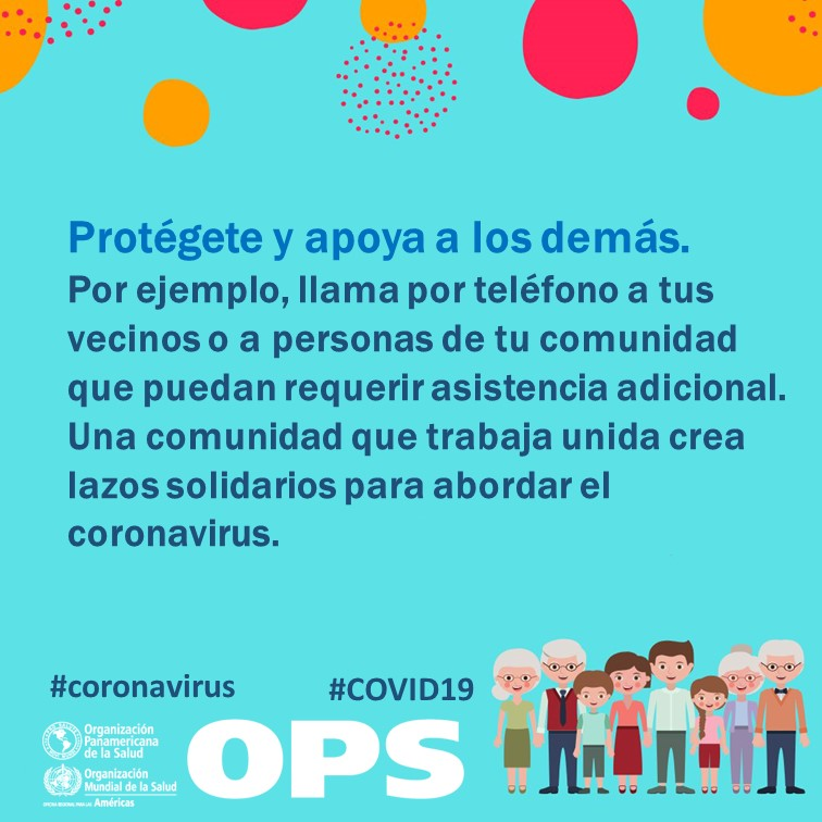 ➡️ Come sano ➡️ Limita el consumo de alcohol ➡️ Sé solidario con los demás ➡️ Cuida tu salud mental  Más consejos de la @opsoms para sobrellevar el estrés y la angustia que generan la crisis del #COVID19: