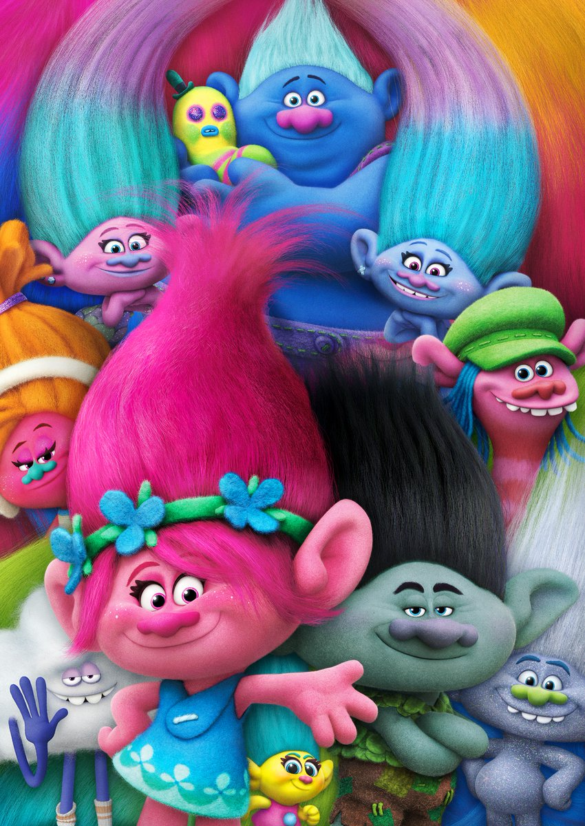"""Calling all Poppy and Branch fans... """"Trolls"""" is airing right now on NBC!   And don't forget to tune-in on April 10 for the world premiere of #TrollsWorldTour at home, on demand. ✨🎸🎶 https://t.co/8d3PZQNCzL"""