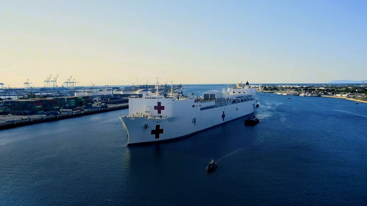 There's something about seeing a U.S. Navy hospital ship on the horizon ... #USNSMercy #USNavyAlwaysThere