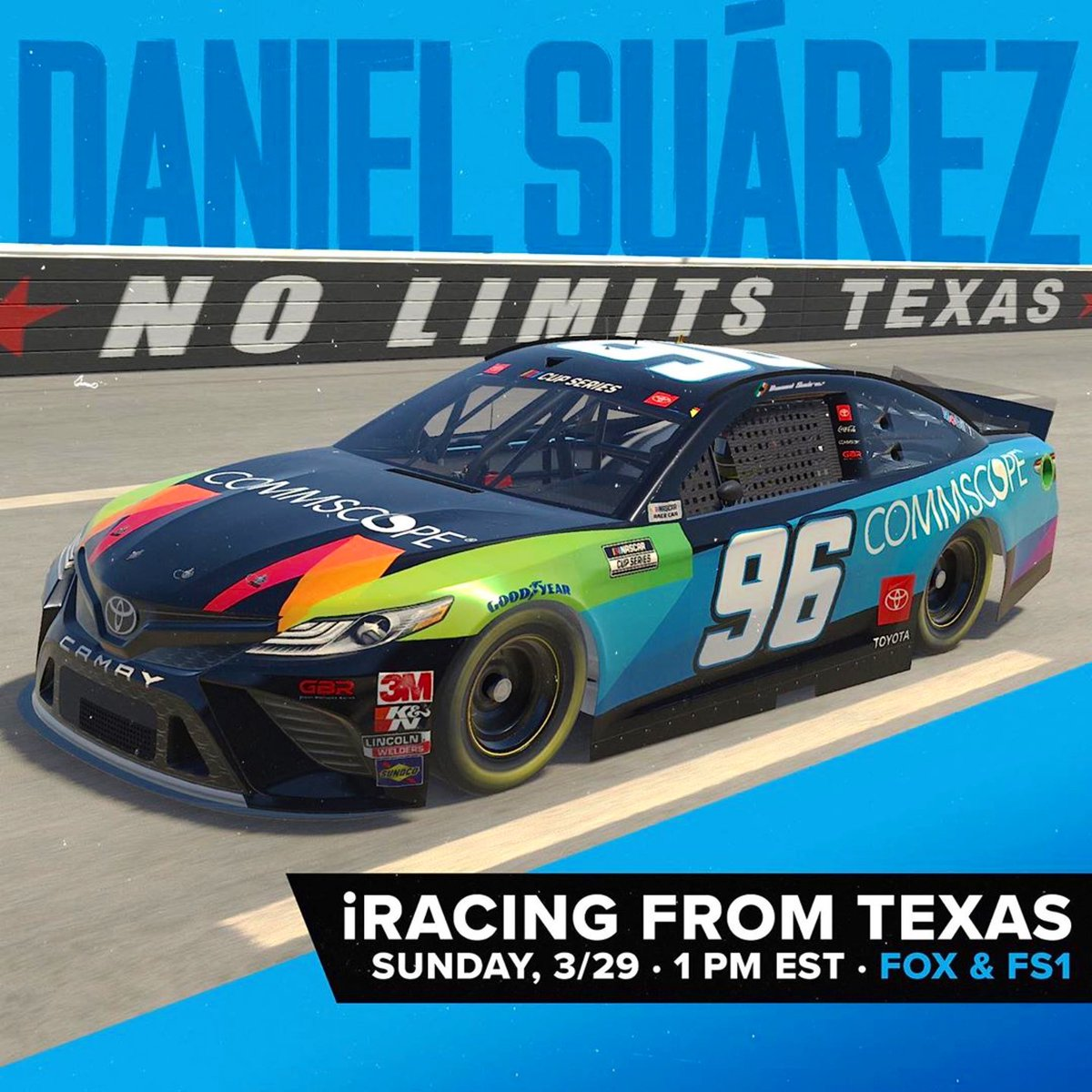 Let's do this ✊🏼🎮  #Repost @gauntbrothersracing ・・・ We're thrilled for @daniel_suarezg to race in the eNASCAR #iRacing #ProInvitationalSeries this Sunday from virtual @TXMotorSpeedway in the @CommScope #Camry! This will be his first-ever iRacing event.  #NASCAR   #TeamToyota