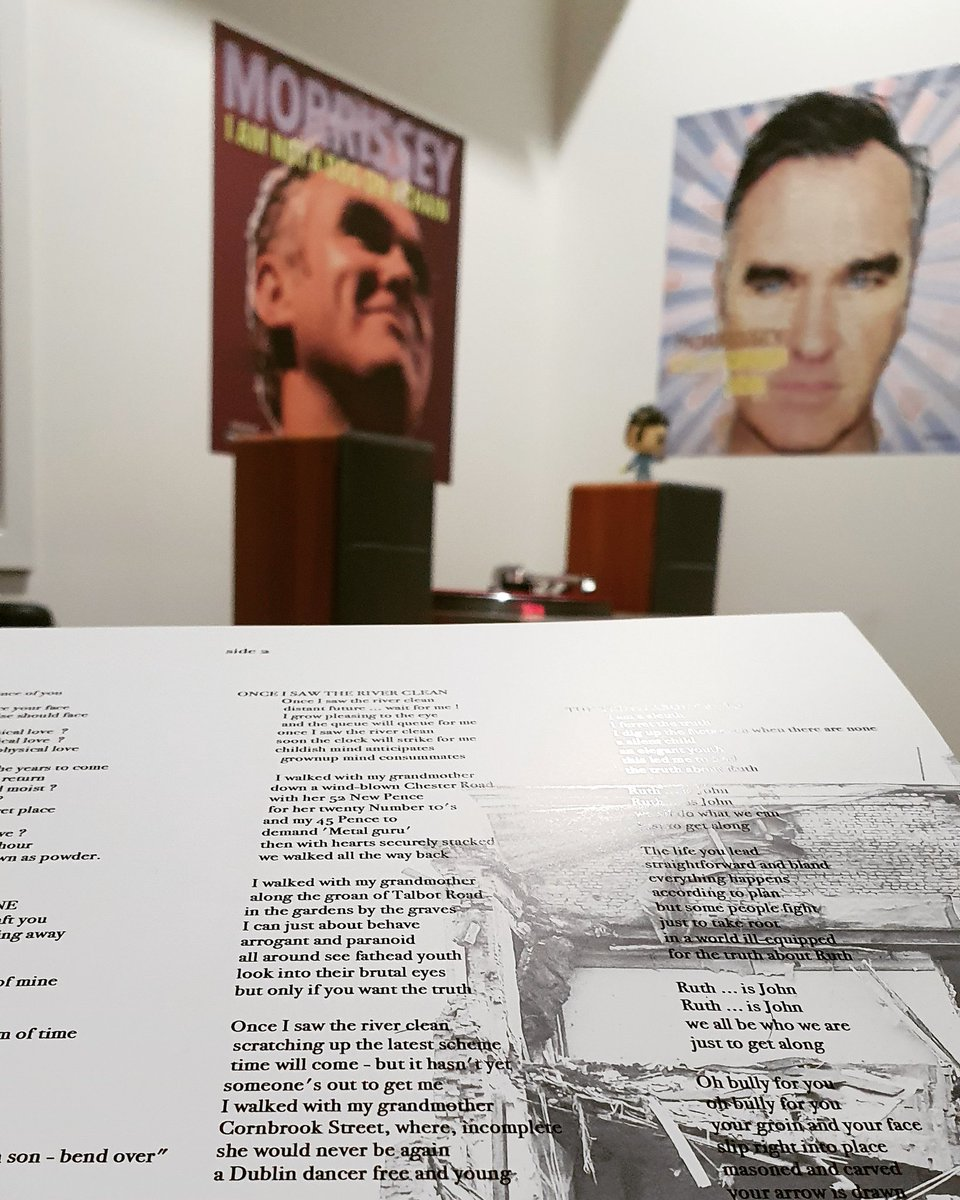 once i saw the river clean scratching up the latest scheme time will come but it hasn't yet someone's out to get me..  viva #Morrissey