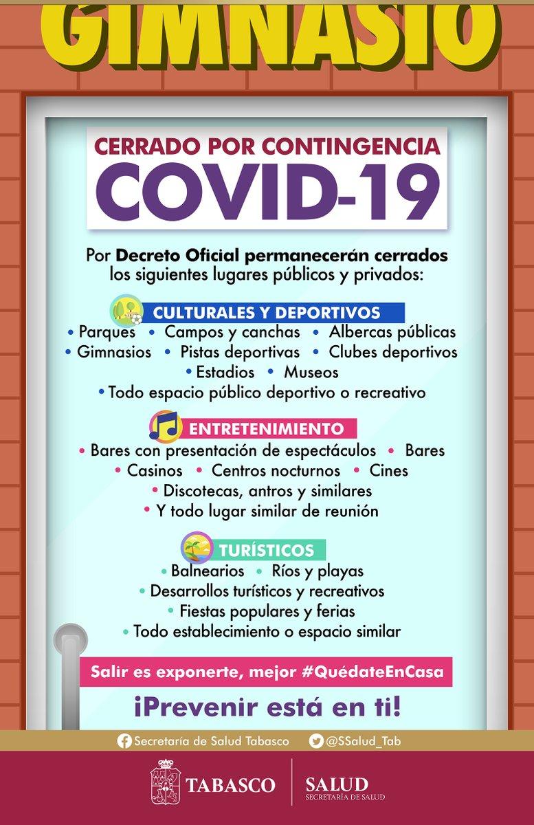 Para frenar la propagación de contagios por COVID-19, se emitió un Decreto Oficial que busca evitar las concentraciones masivas para cuidar la salud. Hoy es necesario de tu apoyo para ganarle la batalla a la pandemia.