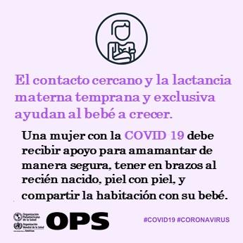 #COVID19 y lactancia temprana🤱: es importante mantener el contacto cercano entre la madre y el bebé, así como la lactancia materna temprana y exclusiva👶🏽