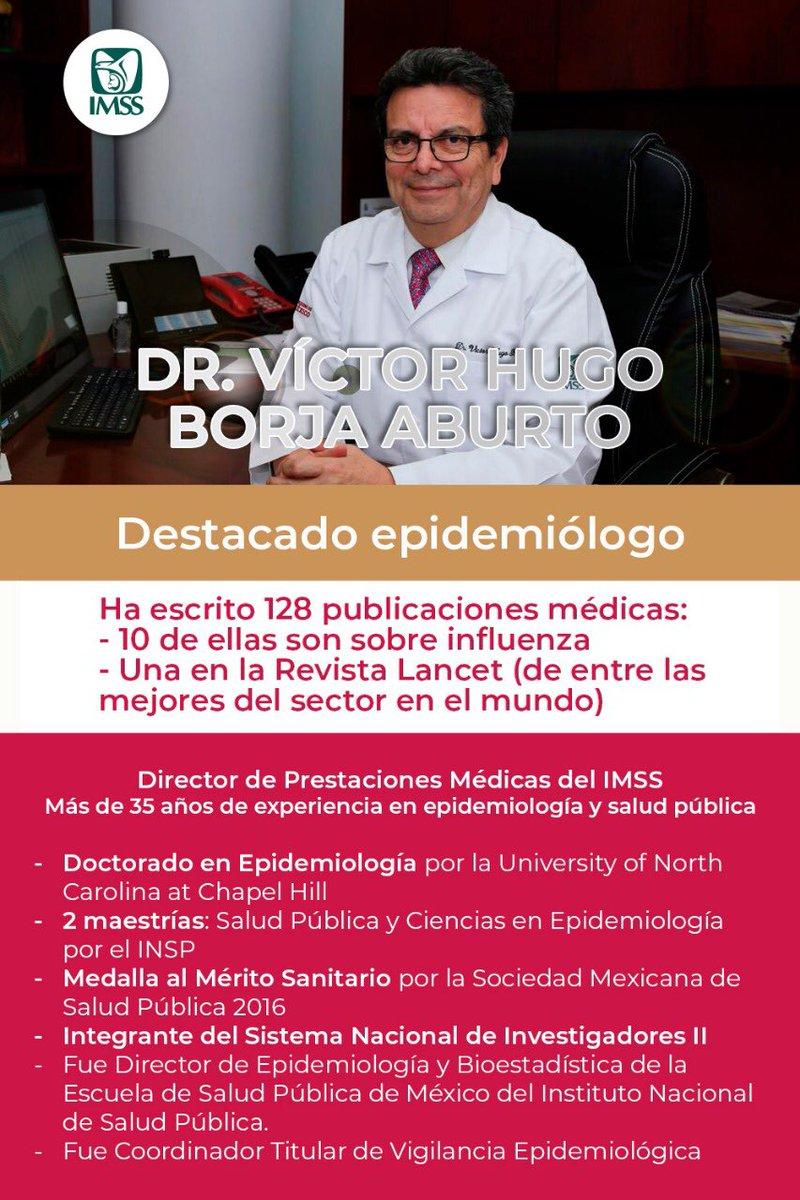 ¡Estamos en buenas manos!  Uno de los epidemiólogos más destacados de México es parte de la #FamiliaIMSS y colabora para atender la contingencia #COVID19.   Dr. Víctor Hugo Borja, Director de Prestaciones Médicas del #IMSS. #FamiliaIMSS #MéxicoUnido #Coronavirus