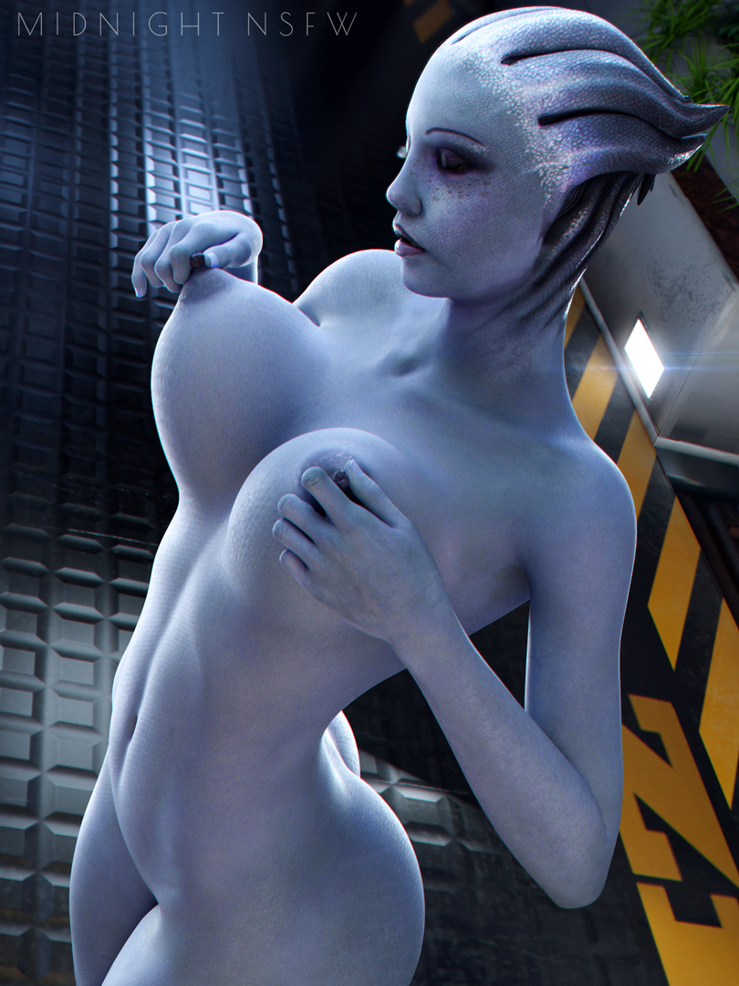 HR  without watermark on my Patreon:   Model by @Rigid3d  #nsfw #r34 #rule34 #MassEffect #liaratsoni