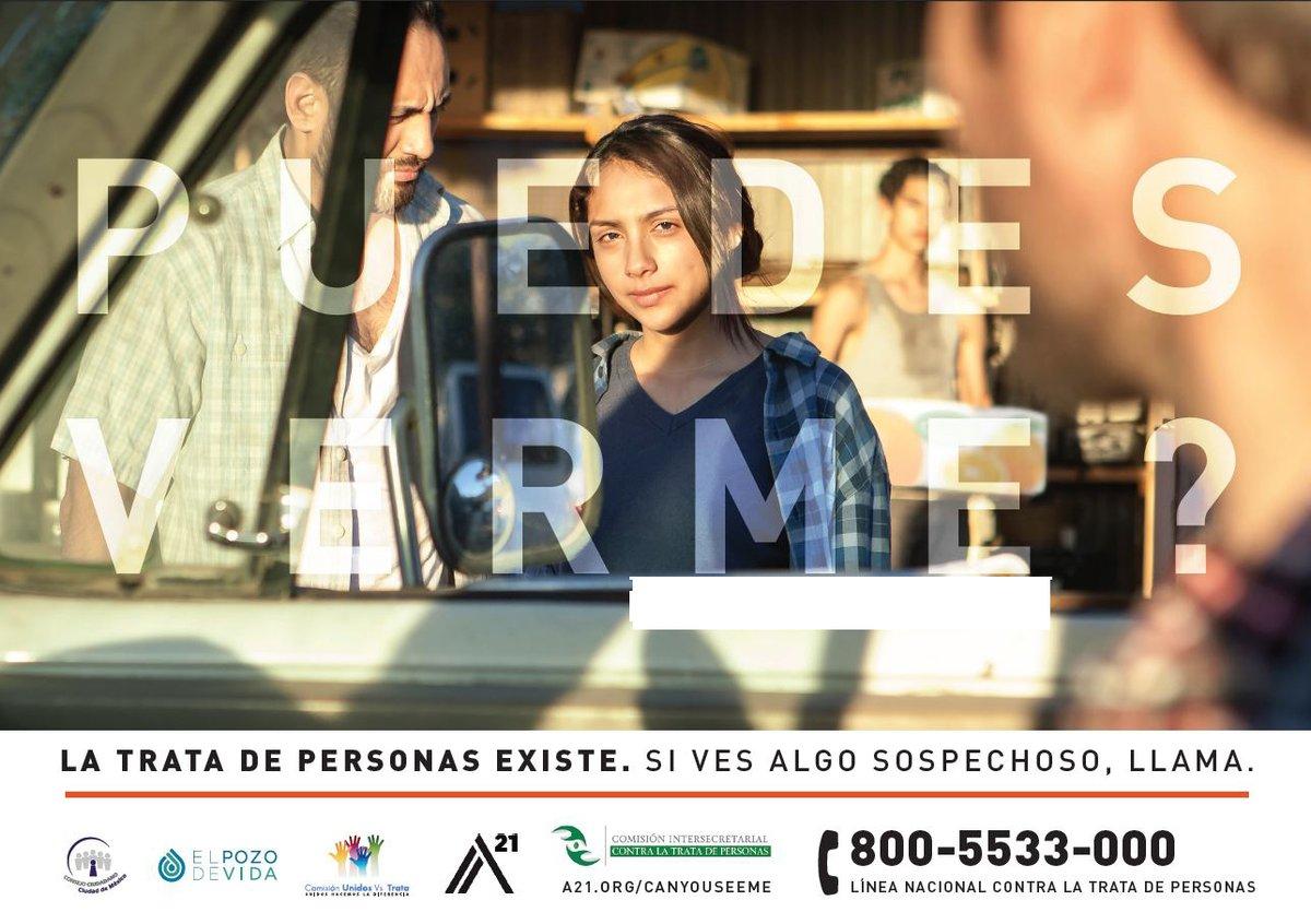México se une a la campaña #PuedesVerme #CanYouSeeMe para combatir la #TrataDePersonas #SeParteDeElla