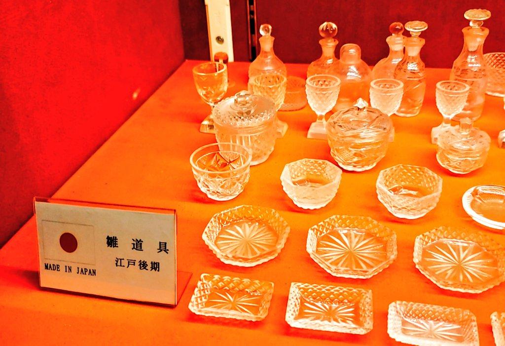 test ツイッターメディア - カステラ福砂屋本店。奥にすばらしいガラス製品の数々。中でも江戸後期の雛人形の雛道具の小さなガラス食器にはため息しかでません。長崎商人のお嬢様のために特別に作られたものなのでしょうか...?朝ドラで長崎カステラの物語なんてやってほしいですね。主人公は川口春菜ちゃん、福山雅治さんも..。 https://t.co/GSdWiSmEiI