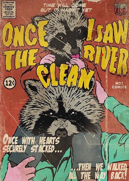 'Once I Saw The River Clean'🦝🦝 @officialmoz   Comics from the lyric video! art by Rodrigo Pires, @rdrg_art via IG:   #Morrissey #iamnotadogonachain