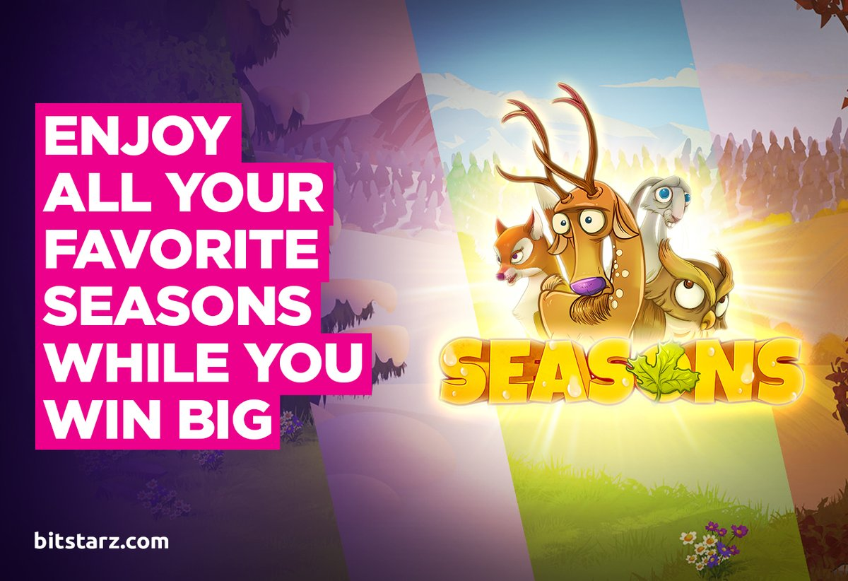 Embrace Mother Nature's Finest and Get Rewarded in the #Seasons Slot by @YggdrasilGaming.  #BitStarz #OnlineSlots #SlotGames #OnlineCasino #BitcoinCasino #GameGuide