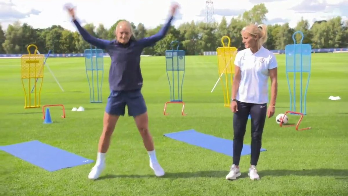 Get your Monday workout in with @chapmans17 and Magda 💪🏼