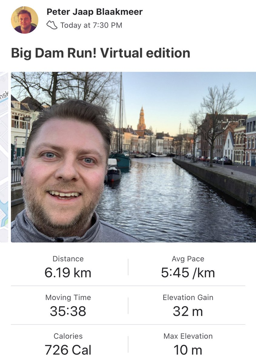 PeterJaap: Finished the virtual 2020 @bigdamrun in Vegas-unlike strikingly cold weather conditions but it felt great! 💪🏃♂️ https://t.co/8WDQV643kG
