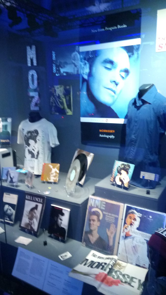 Local Author and music writer @MatthewMozzer has displayed his Morrissey/Smiths memorabilia within the British Music Experience.   What music memorabilia do you have? Comment below!❓