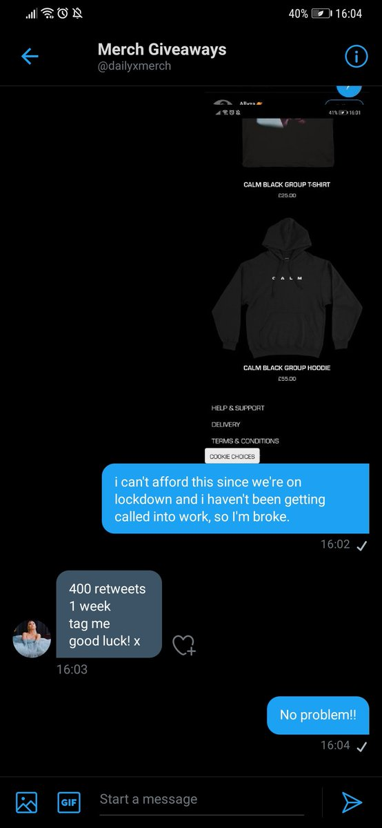 can i get some support on getting this?  i haven't been getting called into work and i was barely even able to afford the album. every retweet will help!  @dailyxmerch