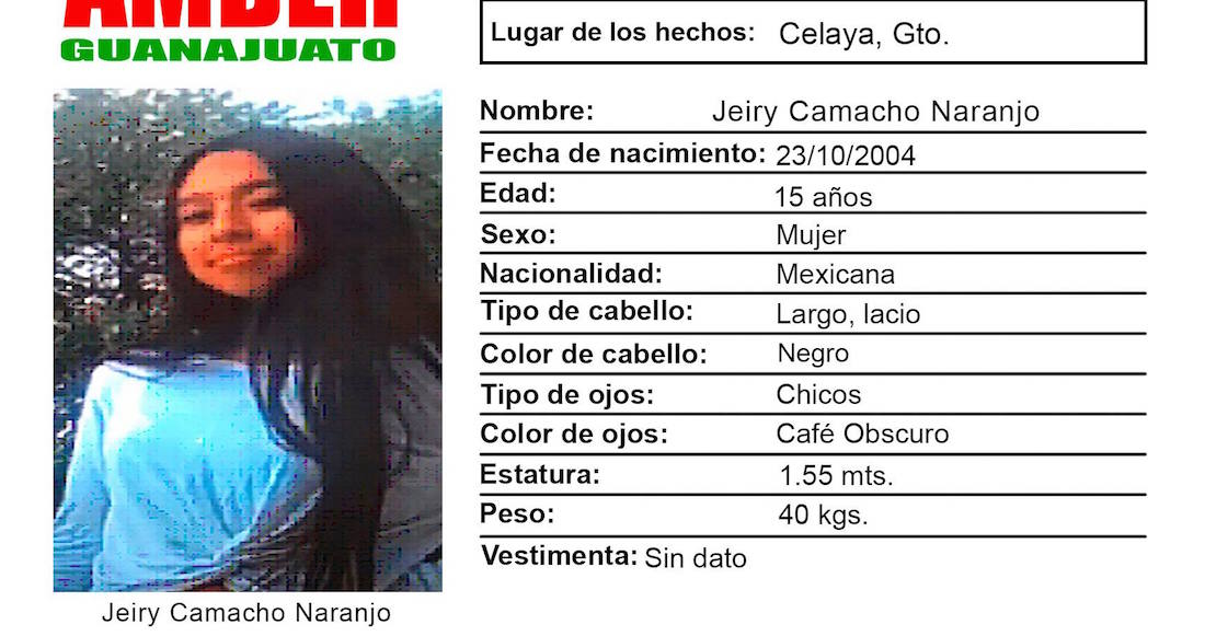ALERTA AMBER | Jeiry, de 15 años, salió de su casa en Celaya, Guanajuato, hace 4 días; nada se sabe de ella