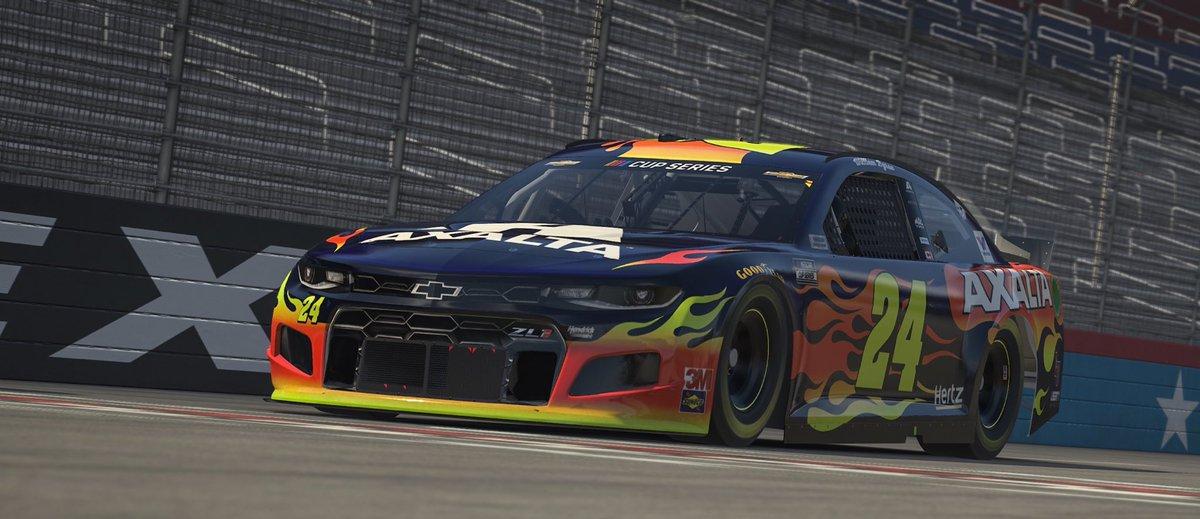 The @NASCAR #ProInvitationalSeries race @TXMotorSpeedway is underway on FOX or FS1!  #Axalta24 | #Axalta88