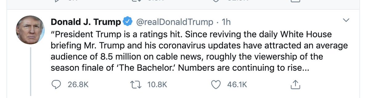 Like me, you've probably got a lot on your mind right now. But remember this, share it at the right time. We must hold Trump accountable in November. An unfit president who thought only of his ratings as people were dying & others bravely took risks to try & help.