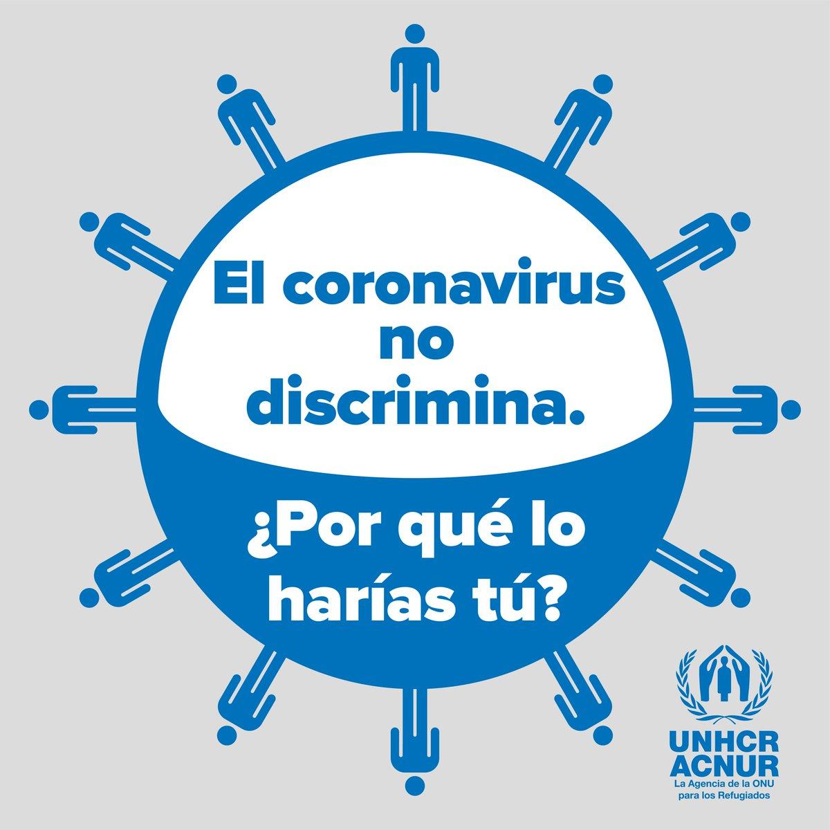 En un mundo donde una pandemia se está extendiendo a una velocidad vertiginosa, no podemos permitir que la discriminación se vuelva viral también.   #COVID19 #coronavirus