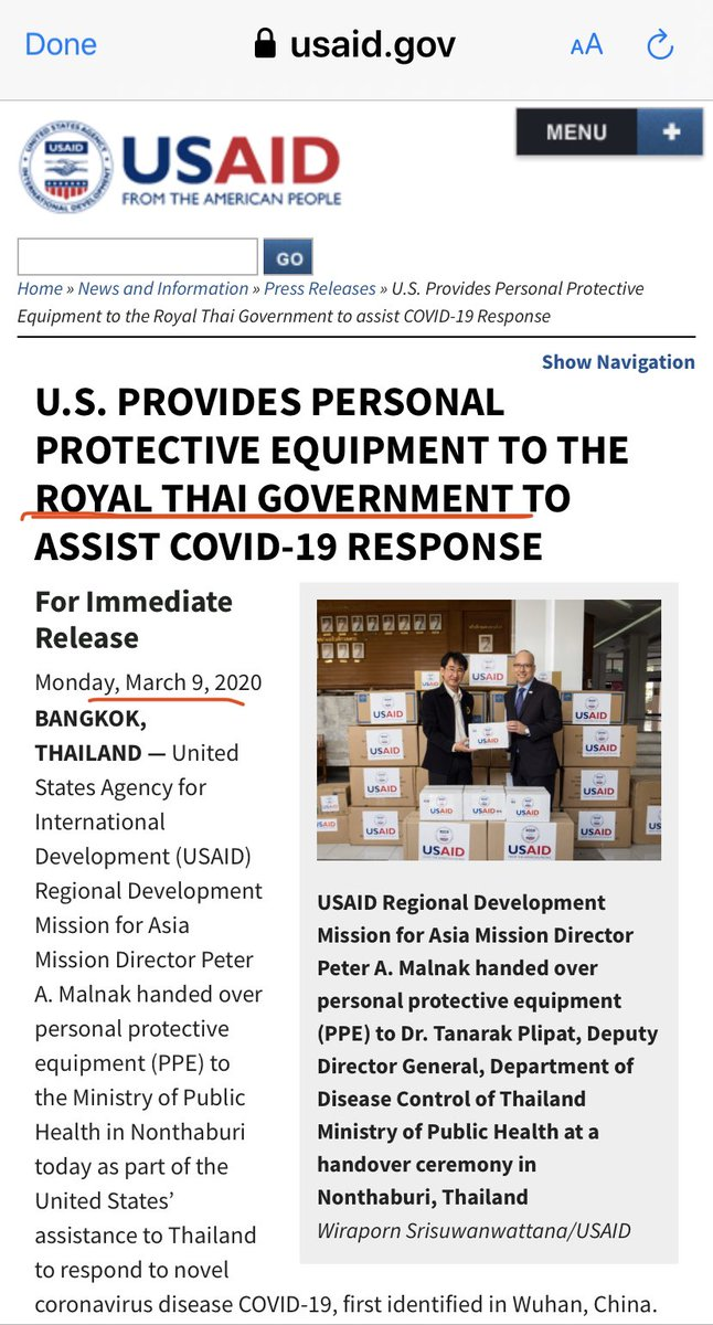 @aplebeianlife @File411 @maddow @Lawrence @donlemon @atrupar @MSNBC @CNN @thehill @gtconway3d @briantylercohen @RepAdamSchiff @SpeakerPelosi @TeamPelosi @tedlieu @RepKatiePorter @KamalaHarris @HouseDemocrats Omg! Trump ALSO shipped THOUSANDS of PPE to Thailand too, just 2wks ago! Where ELSE besides China and Thailand has Trump shipped all our federal emergency PPE stockpile to??!😱 @RepAdamSchiff @SpeakerPelosi @TeamPelosi @tedlieu @nytimes @washingtonpost @maddow @Lawrence