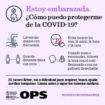 Sigue las precauciones para evitar la enfermedad #COVID19, en especial si estás embarazada 🤰