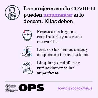 Las mujeres con #COVID19 pueden amamantar 🤱 si lo desean.