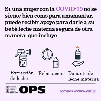 Una mujer con #COVID19 puede encontrar buscar apoyo para amamantar 🤱 si no se siente bien.