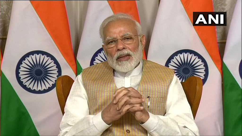 Prime Minister Narendra Modi interacts via video conferencing with India's heads of diplomatic missions over the #COVID19 situation. External Affairs Minister S Jaishankar and Foreign Secretary Harsh Vardhan Shringla also present.