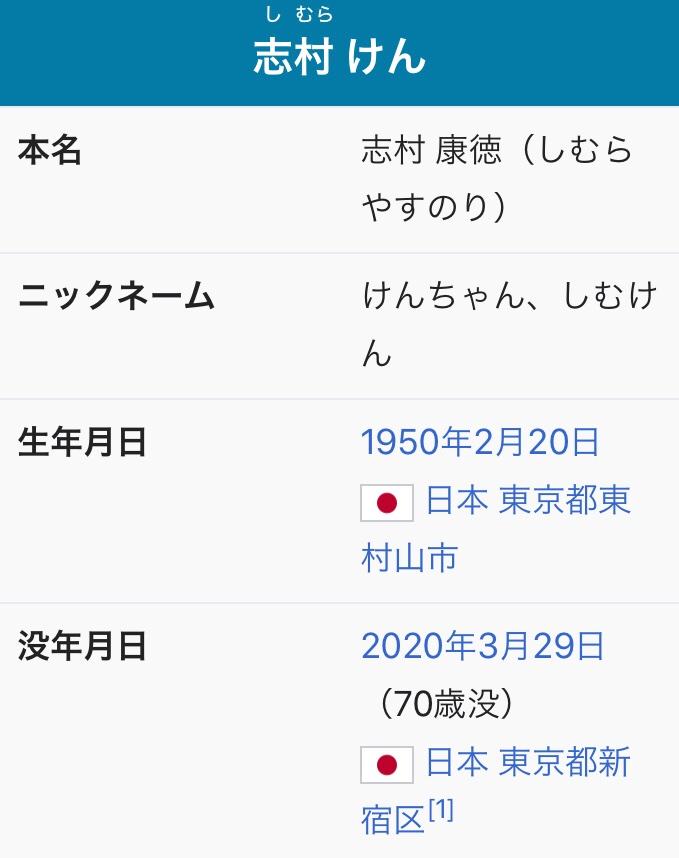 test ツイッターメディア - 寝ます。  Wikipedia早いですね…  90年代だったか、遠藤久美子さんとのトークで放った一言、忘れません。  「久美子ちゃんのあ〇こも、においするんですか?」  ネット社会なら炎上案件ですが、自分は人生変わりました。いろんな意味で大爆笑 志村さんありがとうございました。 https://t.co/9140qJ1BWh