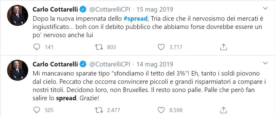 """@CottarelliCPI Scusa @CottarelliCPI questo qui che invadeva i social e le televisioni con """"lo spread! lo spread!"""" mentre i tassi erano in continuo trend di discesa eri tu o una controfigura?"""