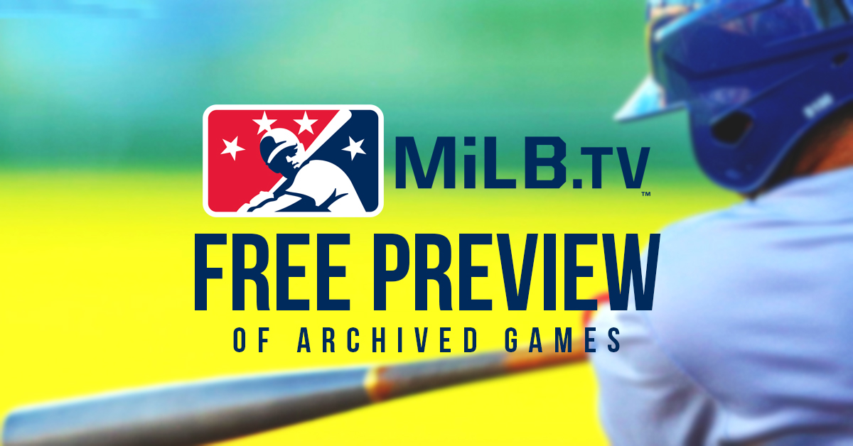 https://t.co/KBwTUr83Cq has been made free to fans until the 2020 season begins!  Watch 2019 Yard Goats games & get your baseball fix here: https://t.co/3soj2Oik3V https://t.co/o1YS6wb0at