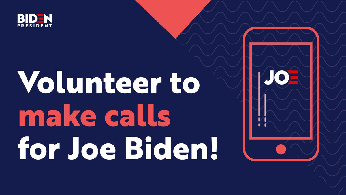 🔥 Fired up and ready for Joe? Take action for #TeamJoe from home! 🏠  ☎️Make calls:  💻Attend an Action Center training:  💰Donate: