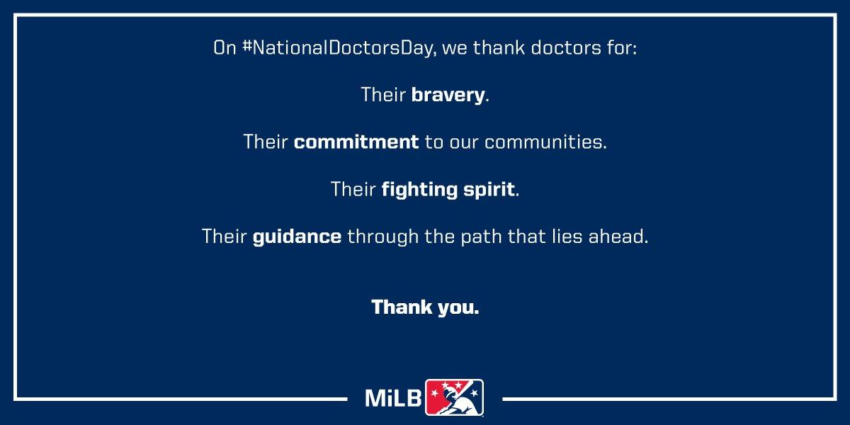 RT @MiLB: Forever grateful.  #NationalDoctorsDay https://t.co/jViMUxsnDi
