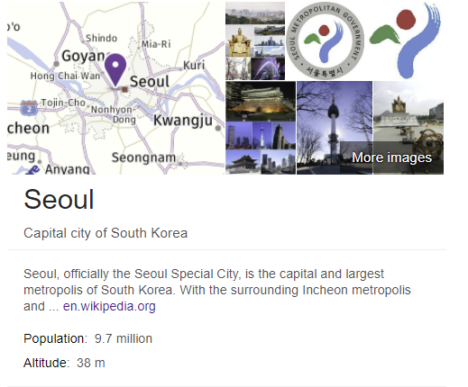 trump just mentioned the pop of seoul claiming it was 38 million people. the pop of greater seoul metro area is 25 million. he most likely read the altitude on google and thought it was the population.
