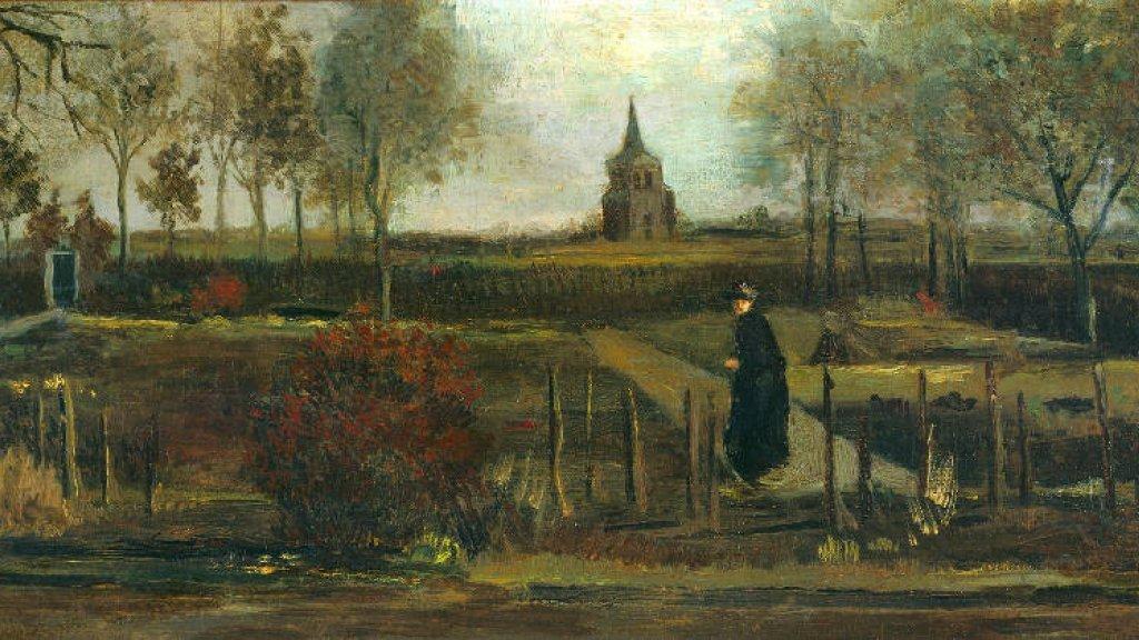 """Celebrar el cumpleaños de #VanGogh sin Van Gogh. Se roban su """"Jardín de Primavera"""". Una obra de 1884 que refleja su estancia en Nuenen. Atraco al #MuseoSinger, en la ciudad neerlandesa deLaren.  Era un préstamo del #MuseoGroninger. Redoblemos la seguridad de nuestros museos."""