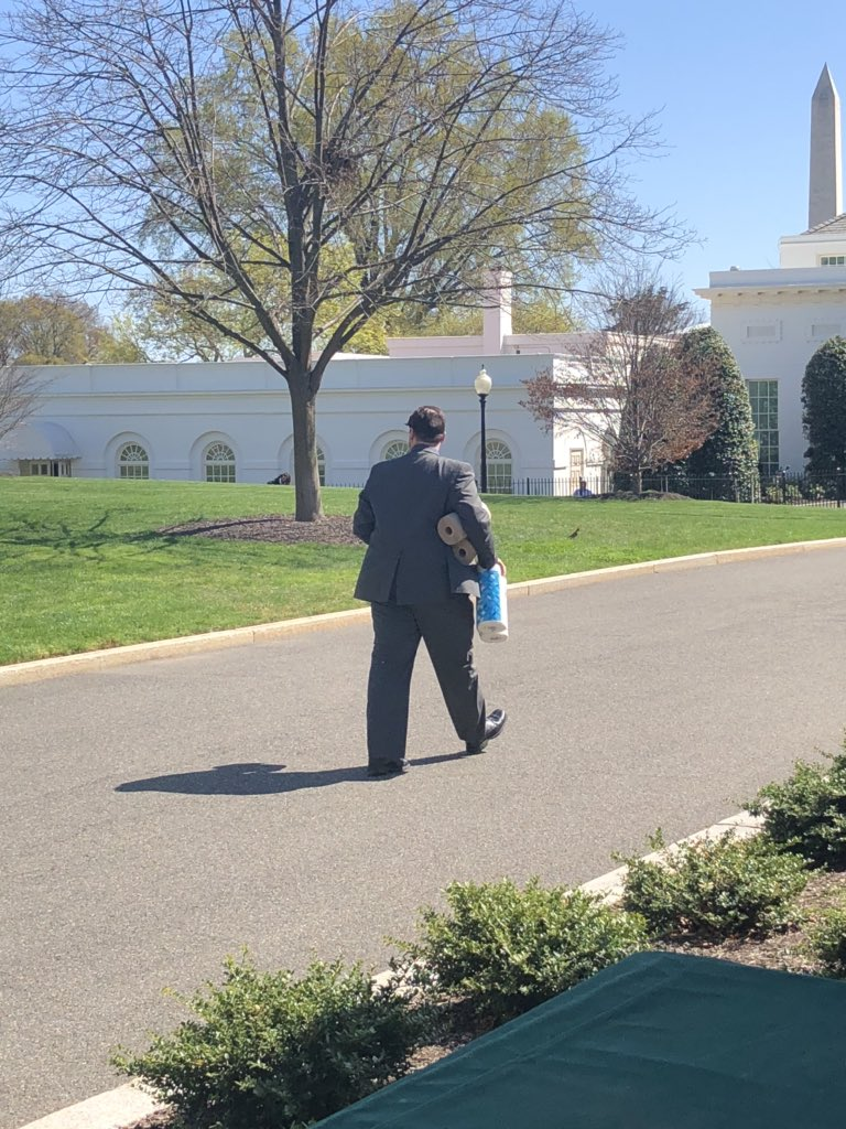 They're running out for supplies over here at the WH too...