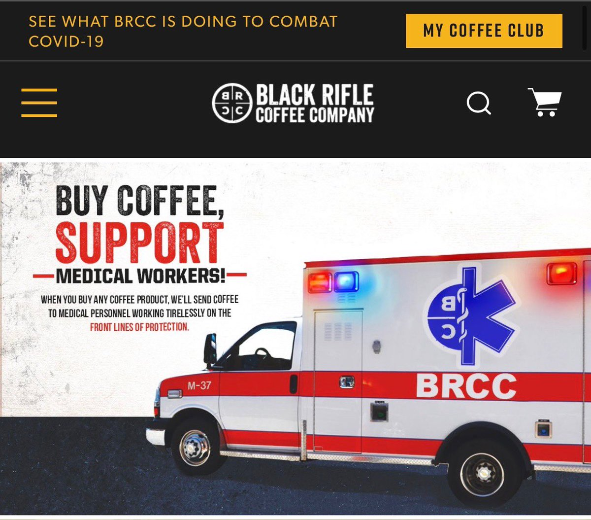 Our great partners at @blckriflecoffee are giving back to medical workers during this time. If you haven't bought anything from them yet, now is your time🔥🔥