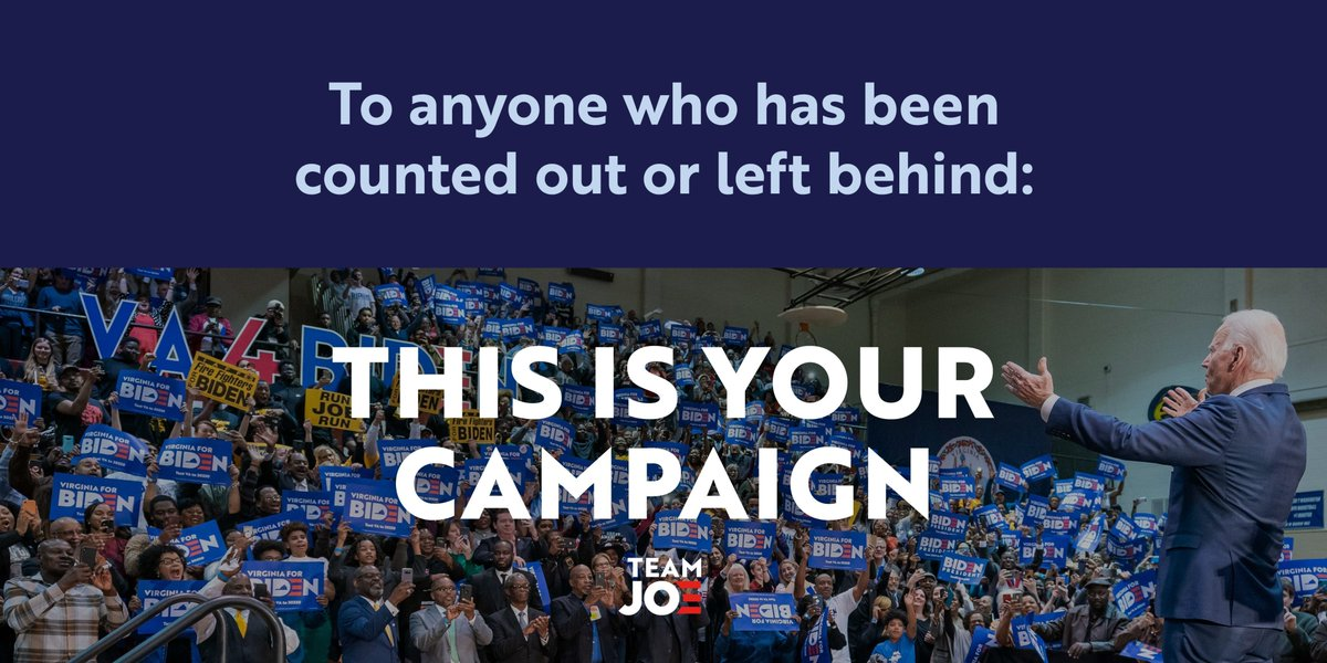We're building a coalition of diverse, fired up individuals that are ready to do what it takes to defeat Donald Trump.   #TeamJoe — this is YOUR campaign.