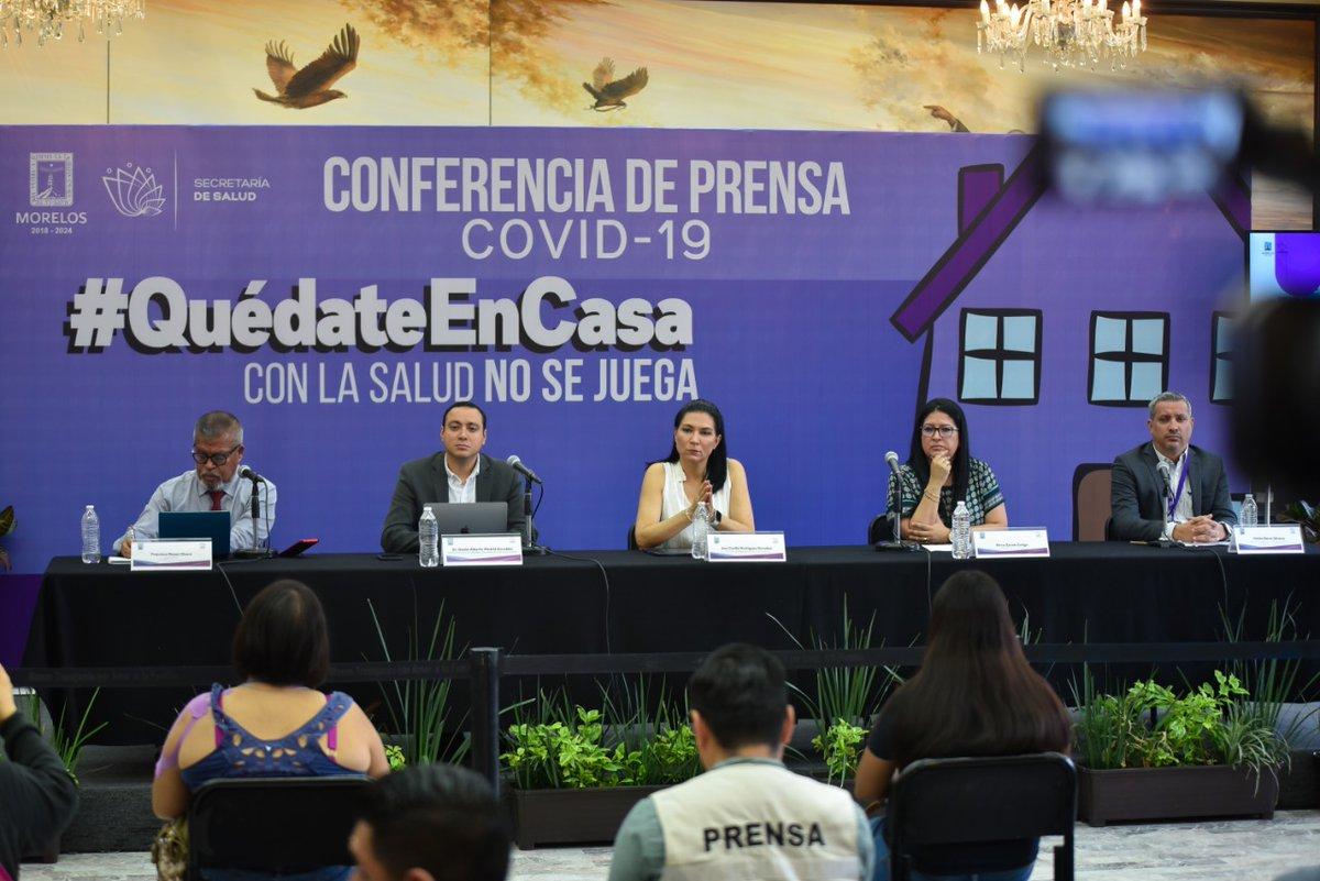 Comunicado de Prensa   Situación actual del Coronavirus COVID-19 en Morelos.   @SSM_Morelos informa que en Morelos se mantienen seis casos de coronavirus COVID-19, una defunción; se han descartado 67 y están 16 como sospechosos.