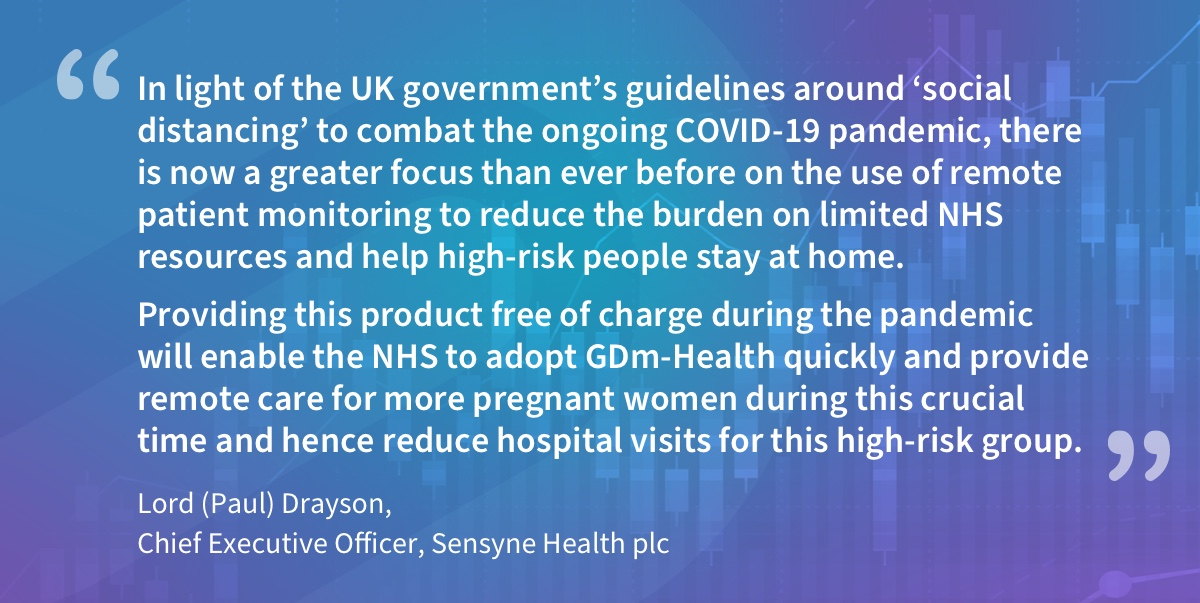 test Twitter Media - 'We're making the #GDm-Health #remotemonitoring system for #pregnant women with #gestationaldiabetes available FREE to the #NHS for 12 months. #StayHomeSaveLives #SensyneHealth #NHSX #COVID19 Find out more https://t.co/aUOhdaNPbG https://t.co/RGLAv0H7iw