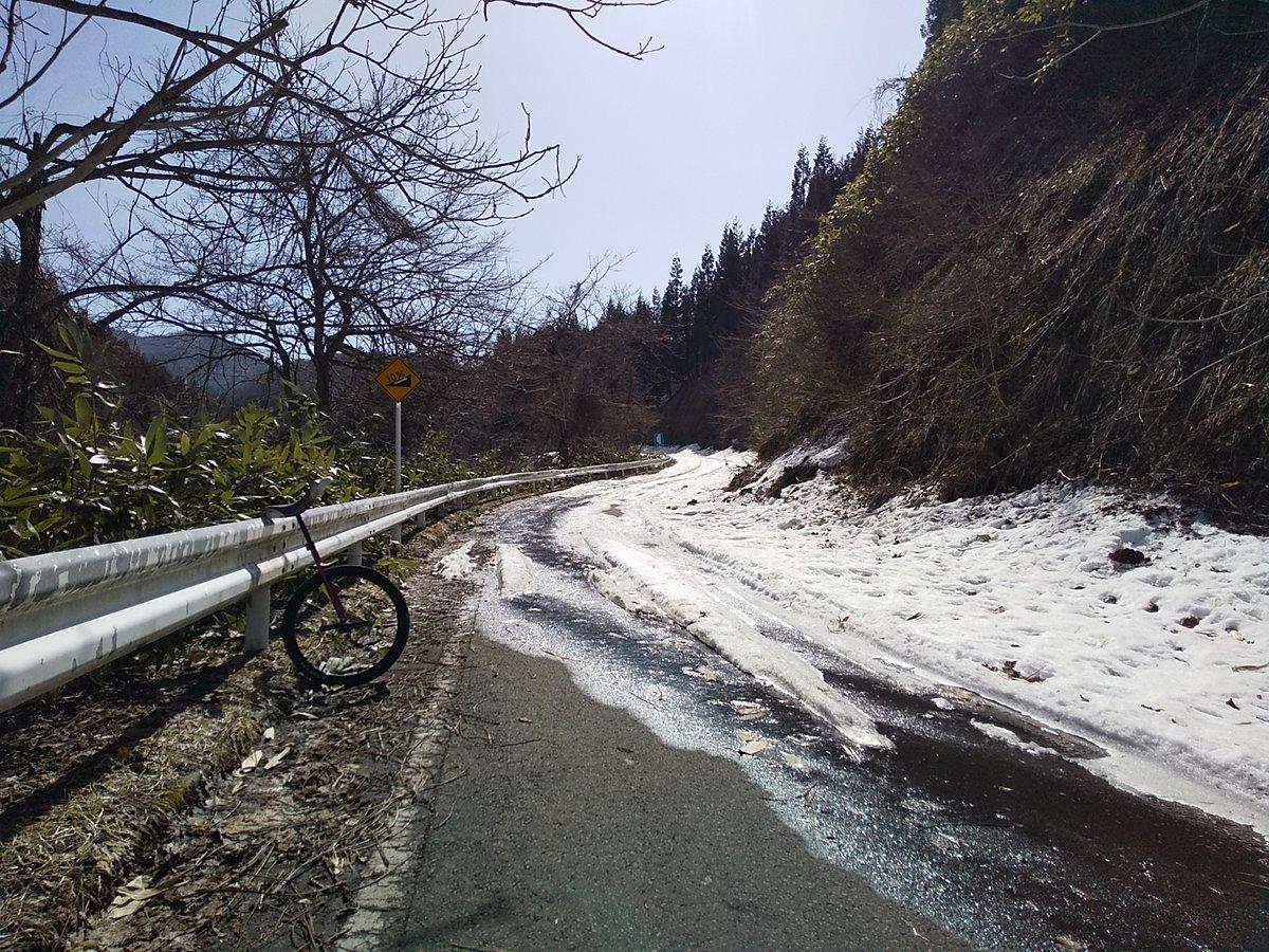 test ツイッターメディア - ぐぬぬ、これから本格的にヒルクライムってあたりから残雪。 https://t.co/YLrXVqvETT